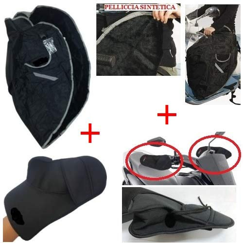 For Piaggio Beverly Cruiser 250 2007-2011 padded leg cover for back + handlebar cover in neoprene universal waterproof scooter MOTO SPORT MONDO