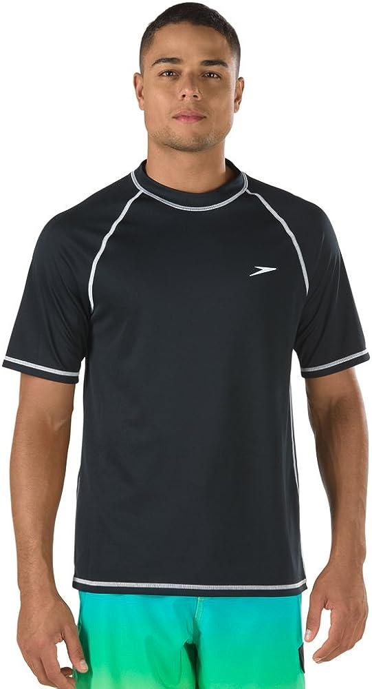 Speedo Men's UV Swim Shirt Short Sleeve Loose Fit Easy Tee