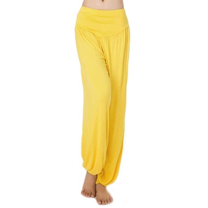 MEISHINE® Mujer Pantalones de Yoga Pantalones Deportivos Algodón Modal Harem Pantalón Polainas para Danza, Yoga, Ganduleado, Fitness - Muy Suave