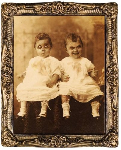 [WMU Twins 17 X 21 Holograph Portrait] (Twin Halloween Costumes For Sale)