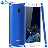 Xgody D22 4G FDD-LTE Unlocked Cell Phones Android 7.0 16GB ROM 2GB RAM 5.5 Inch Dual SIM Dual Cameral 13 MP&5 MP HD Screen with Fingerprint Scanner For At&T T-mobile Telefonos Desbloqueados Azul(Blue)