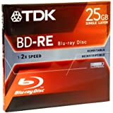 TDK Blu-ray 25GB Rewritable Recording Disc (BDRE25A) (Discontinued by Manufacturer)