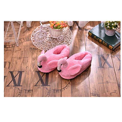 d'hiver de Mignon Flamant antidérapantes Coton Maison Chaudes Rose de Coton Pantoufles Pantoufles tgqXvwt