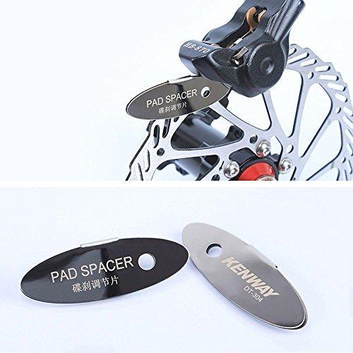 Sbeautli Stainless Steel New Repair Kit Cycling Assist Rotor Install Bicycle Brake MTB Disc Brake Pads Adjustable Tool Bicycle Repair Tool Adjustable Spacer (Bike Brake Repair)