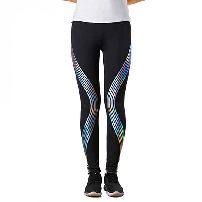 6e6fd9c550 GAFASTWO Women's Reflective Yoga Leggings Pants Stylish Workout Fitness  Outfit
