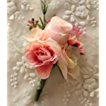 MOJUN-Artificial-Rose-Flower-Boutonniere-Handmade-Floral-Silk-Fabric-for-Grooms-Groomsmen-Prom-Party-Wedding-Decor-Pack-of-2-Pink