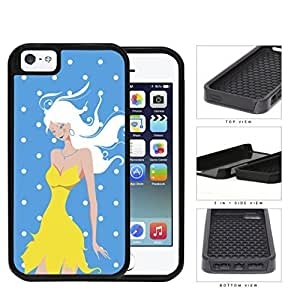 Light Blue Fashion Polka Dots Girl Set 2-Piece Dual Layer High Impact Hard shellSilicone Cell Phone Case Case For Sam Sung Galaxy S4 Mini Cover