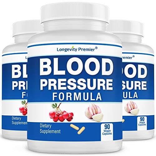 [3-Bottle Value Pack] Longevity Blood Pressure Formula -Scientifically formulated with Hawthorn & 12+ top Quality All Natural Herbs (Best Way To Control High Blood Pressure)