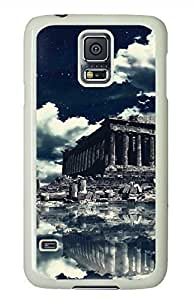 Akropolis-Wallpaper White Hard Case Cover Skin For Samsung Galaxy S5 I9600