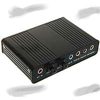 Adaptador de Áudio Óptico Externo de 5.1 canais de Som USB 2.0