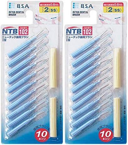 ニューテック歯間ブラシI型タイプ SSサイズ(ブルー) 10本入 × 2個