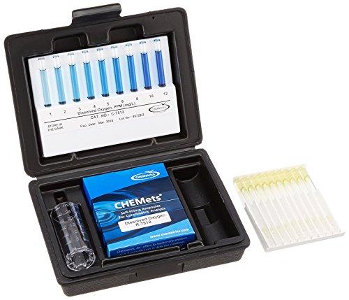 CHEMetrics K-7512 Dissolved Oxygen Kit, 1-12 ppm Range, 1 ppm MDL ()