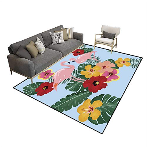 Kids Carpet Playmat Rug Flamingo Floral - Rug Catalina Floral