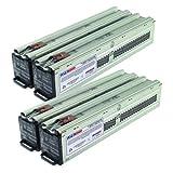 2x RBC44 Compatible Battery Set for SURT8000XLTW, SURT10000RMXLI - Plug & Play - 1 Year Warranty by UPSBatteryCenter