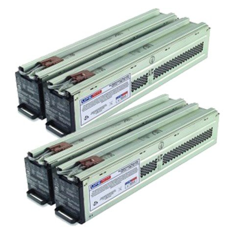 2x RBC44 Compatible Battery Set for SURT10000XLT, SURT10000XLTW - Plug & Play - 1 Year Warranty by UPSBatteryCenter