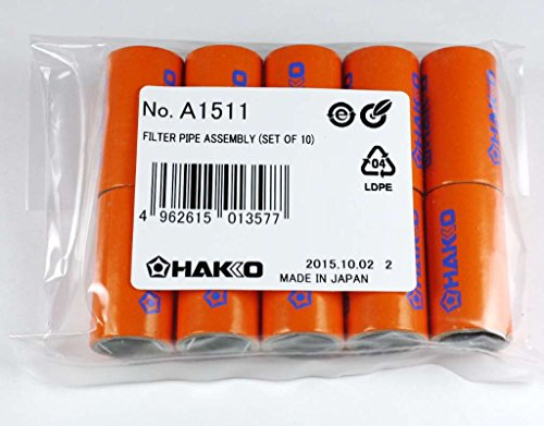Hakko A1511 Pipe Filter, Pkg/10 For Fm-2024