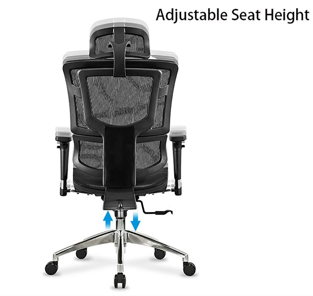 AIMLEIE mesh dator kontorsstol ergonomisk design stol skelett rygg synkronmekanism Röd SILVER
