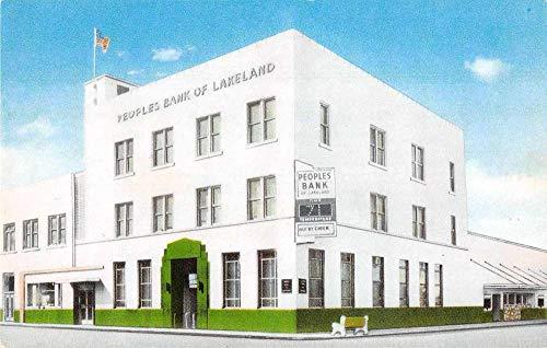 Lakeland Florida Peoples Bank Vintage Postcard JA455924