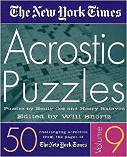 //DJVU\\ The New York Times Acrostic Puzzles Volume 9: 50 Challenging Acrostics From The Pages Of The New York Times. Higiene applying Desde outlines Numero