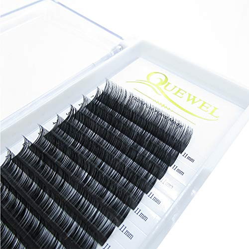 Semi Permanent Eyelash Extensions 0.03 Thickness C Curl 11mm12rows in one tray (0.03 C Curl, 11mm)