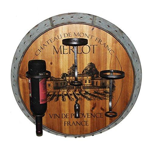 400 Wine Racks - Home Source 400-22285 Merlot Wine Holder Wall Decor, 7