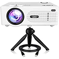 QKK [2018 Upgraded] Home Theater Mini Projector - Full HD...