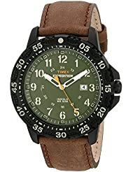 Timex Mens T49996 Expedition Gallatin Brown/Green Leather Strap Watch