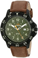 Timex Men's T499969J Expedition Camper Trail Watch with Brown Leather Band