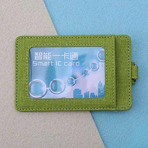 Gimax Card /& ID Holders 1PC Fashion Unisex ID Window Card Holder Office Bus Cards Case Badge Accessories Color: GN