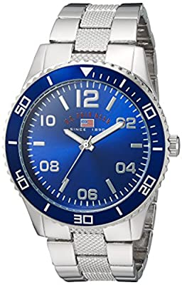 U.S. Polo Assn. Men's Analog-Quartz Watch with Alloy Strap, Silver, 24 (Model: US8609)