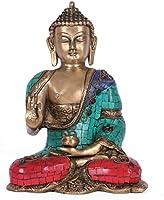 Collectible India Blessing Buddha Idol India Decor Tibetan Abhaya Buddha Statue Medicine Metal Brass Sculpture Decor Gifts