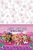 "American Greetings PAW Patrol Pink Plastic Table Cover, 54"" x 96"""