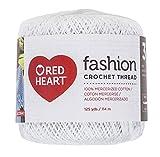 Coats Crochet Red Heart Fashion Crochet, Thread Size 3, White: more info