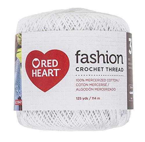 (Coats Crochet Red Heart Fashion Crochet, Thread Size 3, White)