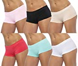 GILBIN'S Women Seamless Stretch Boy Shorts Panties Various Styles (Pack of 6) Heart One Size
