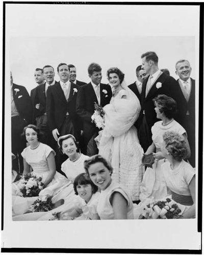 HistoricalFindings Photo: Jackie Bouvier,John F Kennedy,Wedding Party,JFK,Newport,Rhode Island,1953 (John F Kennedy And Jackie Kennedy Wedding Photos)