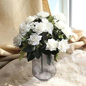 7heads Artificial rosas de seda Artificial flores, cywulin ramo de flores para boda casa