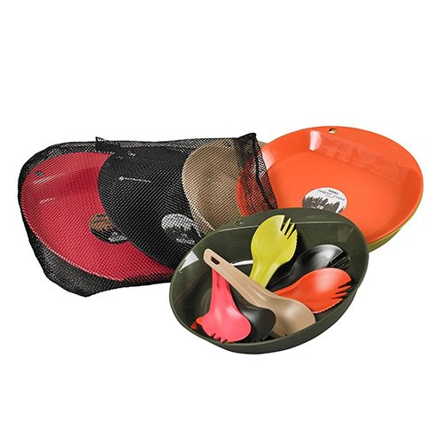 Wildo Hunting/Tactical Just Eat Set for 6 Person, Assorted Colors by Wildo