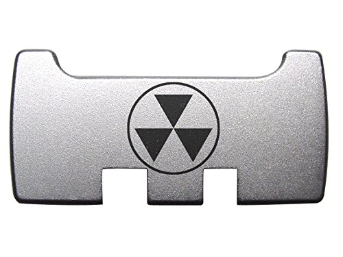 for Glock Rear Ambi Speed Slide Racker Back Plate MOS Optics Silver for Gen 1-5 Most Models Laser Engraved Image: Fallout Shelter Symbol Semi Solid (Best Laser Pistol Fallout 4)