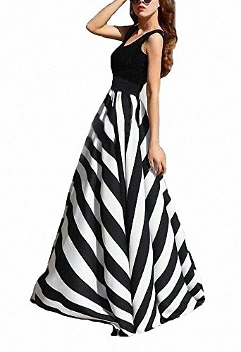 Afibi Women Chiffon Mopping Floor Length Big Hem Solid Beach High-Waist Maxi Skirt (XX-Large, Black)