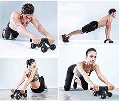 TOMSHOO 6-en-1 AB Roller Kit de Ejercicio con 4 Ruedas+Bandas Elasticas+Cuerda de Salto+Rodilla Mat para Abdominales Ejercicio,Pilates,Ejercicios en Casa: Amazon.es: Deportes y aire libre
