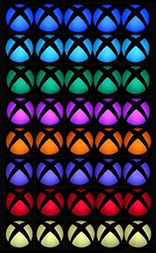 Edwin Group of Companies Logo Power Button Decal Colorful LED Skin Sticker for Microsoft Xbox One Console (40 pcs (5 pcs for each color))