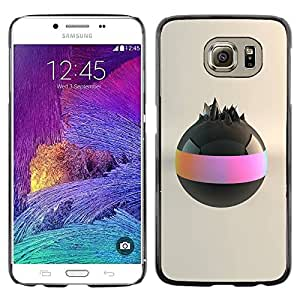Paccase / SLIM PC / Aliminium Casa Carcasa Funda Case Cover para - Black Ball - Samsung Galaxy S6 SM-G920
