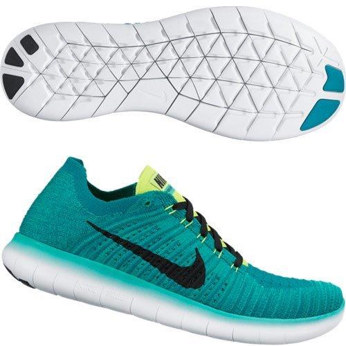 (NIKE Men's Free RN Flyknit Running/Training Shoes - 9M)