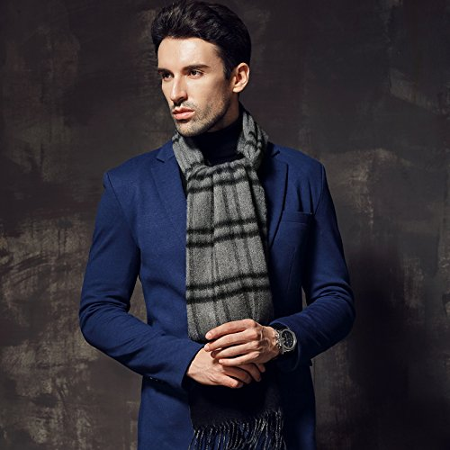 Winter double man thickening scarf, long edition of British edition wool cashmere scarf by KYXXLD