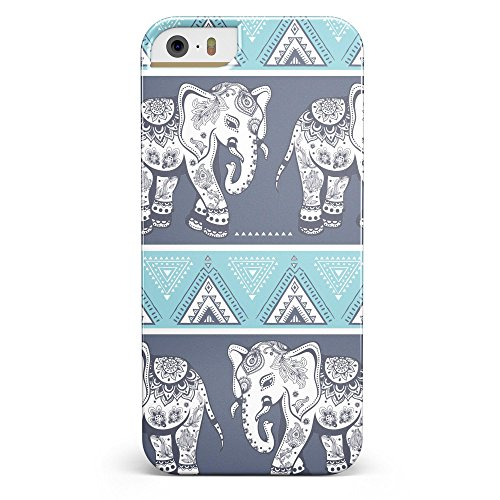 Walking Sacred Elephant Pattern iPhone 5/5s or iPhone SE - Ultra High Gloss INK-Fuzed Case