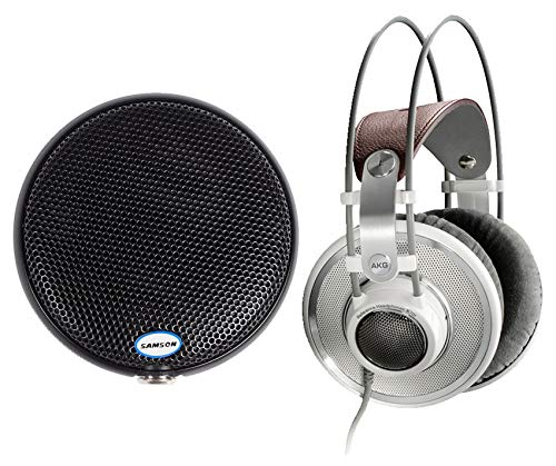 AKG K701 Open-Back Studio Reference Monitor Headphones+Samson Boundary Mic
