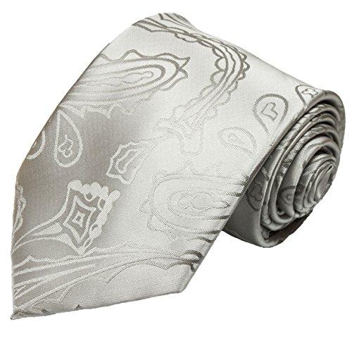 Cravate de paul malone paisley hochzeitskrawatte mariage argenté