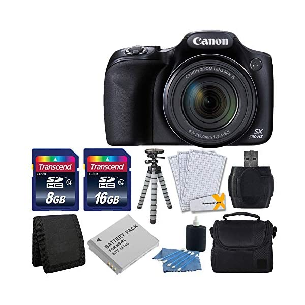 517TKZtGiyL. SS600  - Canon PowerShot SX530 HS Digital Camera with 50x Optical Image Stabilized Zoom with 3-Inch LCD HD 1080p Video (Black…
