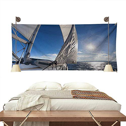 Sailboat Bedroom Tapestry Sailing Boat in The Sea